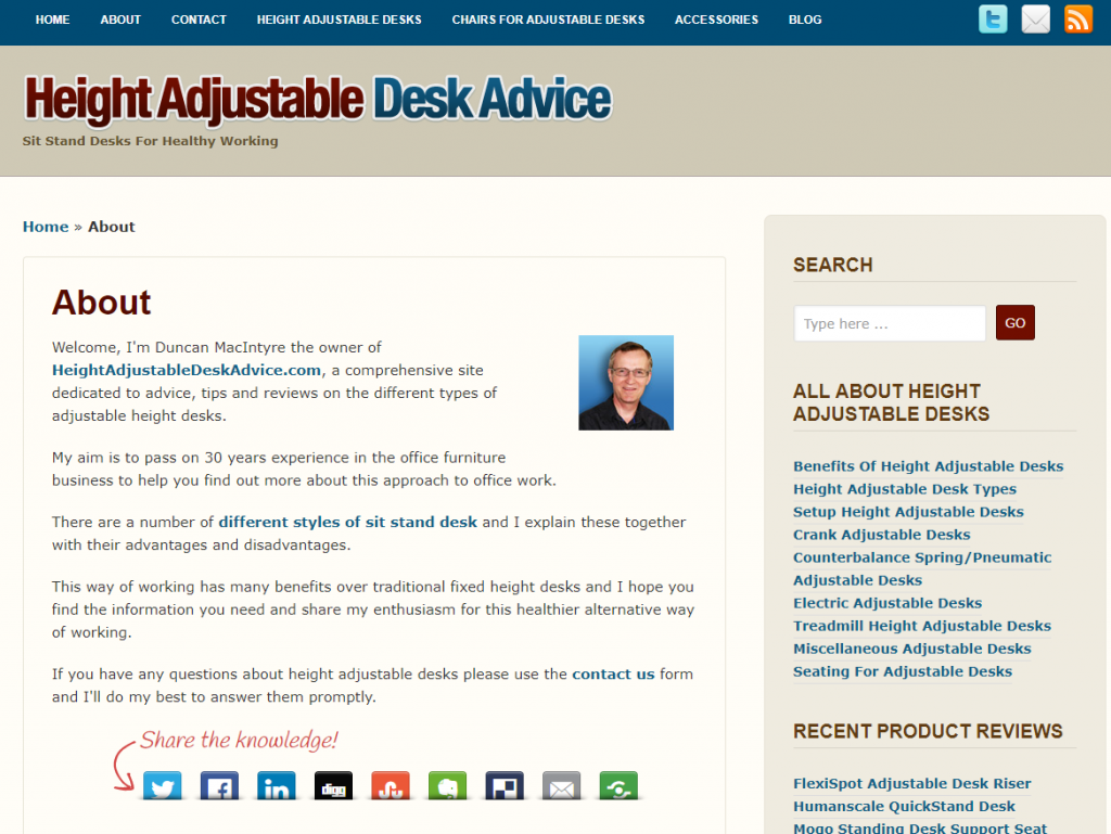 adjustable height desk reviews